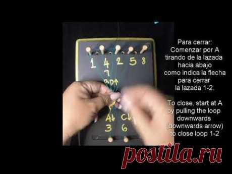 Frivolite tatting lesson 196 - Warp 4 cluny - Cluny de 4 hilos