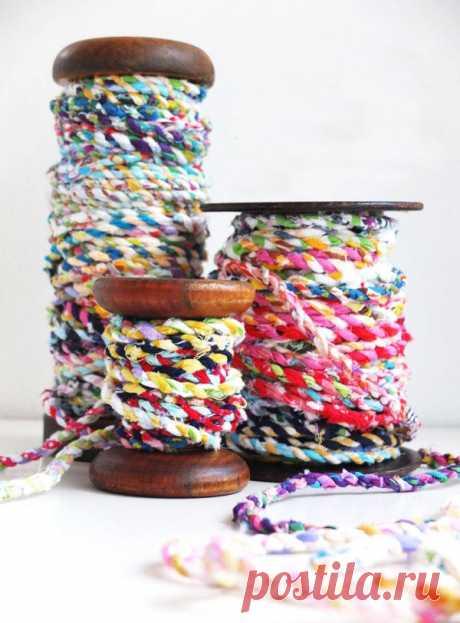 Как самому сделать нить для плетения ковриков — Своими руками
