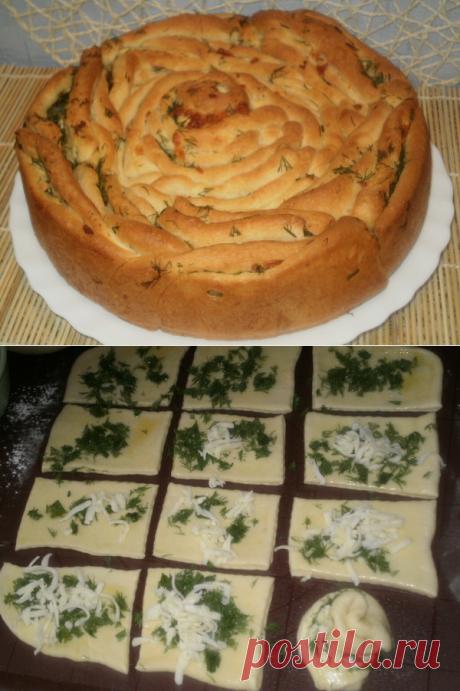 Сырный хлебушек в виде розы - Простые рецепты Овкусе.ру