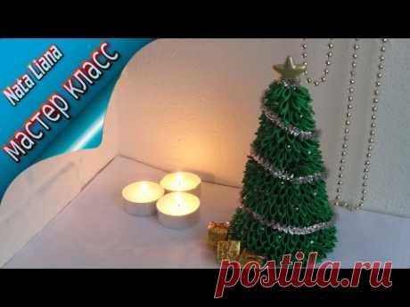 Новогодняя елка - шкатулка своими руками. КАНЗАШИ. / Ribbon christmas tree
