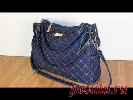 Как сшить джинсовую сумку #9. How to sew a denim bag # 9