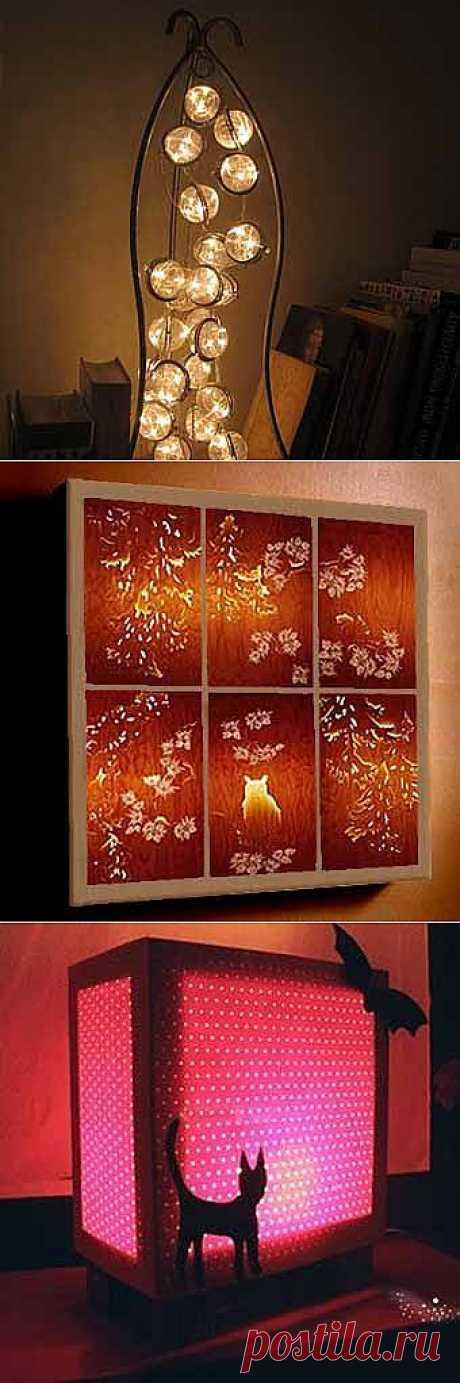7 замечательных и необычных ламп своими руками