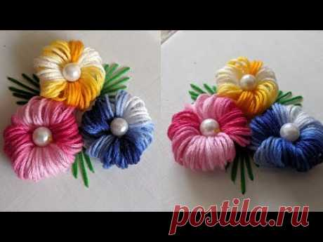 Very Easy & Amazing Flower Design Trick 2020 | Hand Embroidery For flower design trick/idea