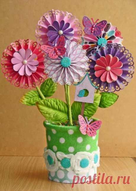Цветы из бумаги — Поделки с детьми