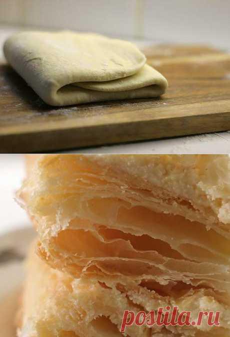 Готовим домашнее слоеное тесто: общие принципы и рецепты приготовления / Простые рецепты