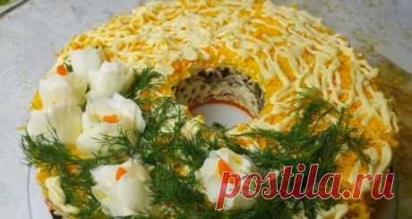 Рецепт цыганского мясного салата. Красиво и исключительно вкусно | Таки Вкусно