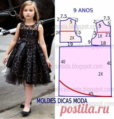 Топ-10 нарядных детских платьев: выкройки