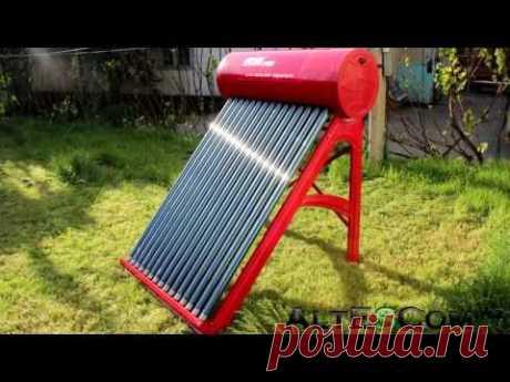 Солнечный водонагреватель Crevao СН-62 (сборка) - YouTube