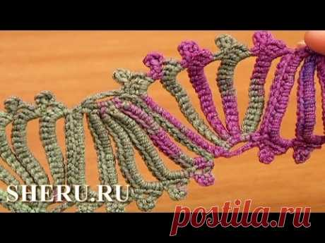 Crochet Borders Lace Tutorial 13 Tape lace