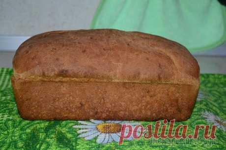 Черный ржаной хлеб печём в духовке