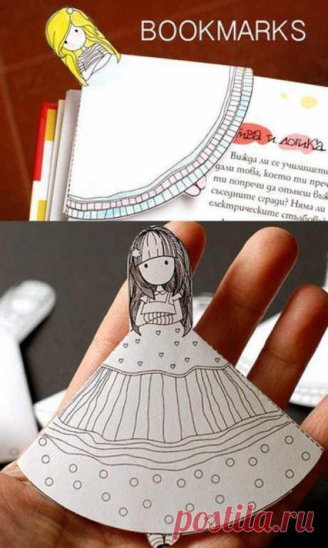 Красивая закладка для книг своими руками