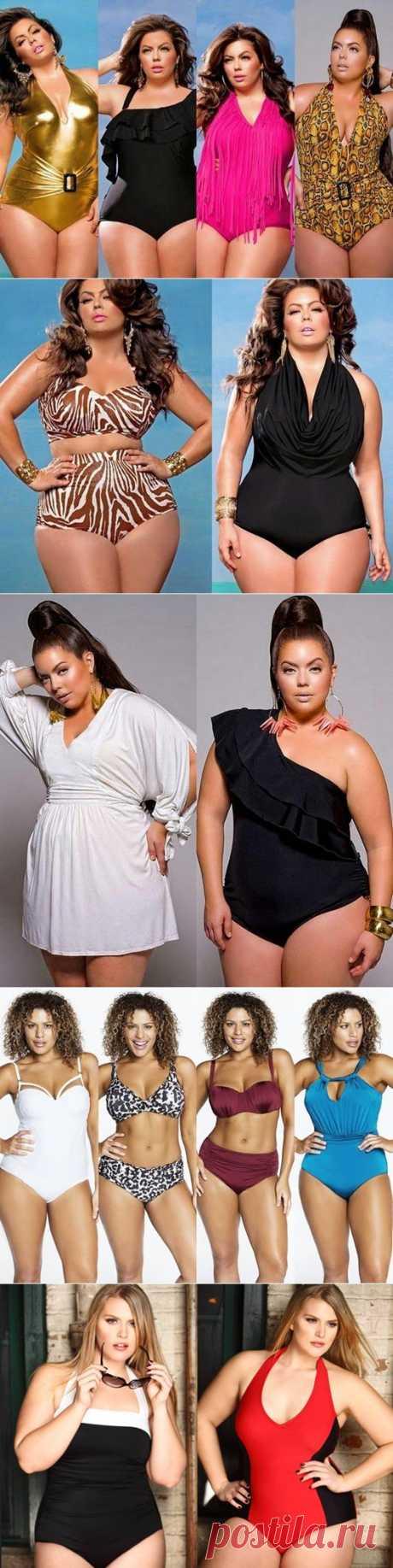 Модные купальники для полных женщин /// Полные,они такие аппетитные =) | Разно Всяко