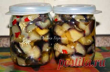 Маринованные баклажаны как грибы с перцем - Ok'ейно Основные ингредиенты (на 2 банки по 500 миллилитров): ...