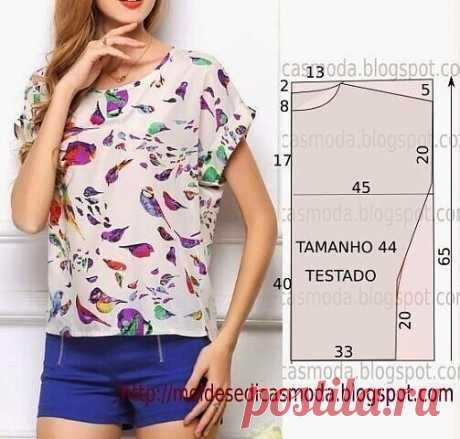 Простые детские платья из квадратов ткани  Блуза. Идея и выкройка