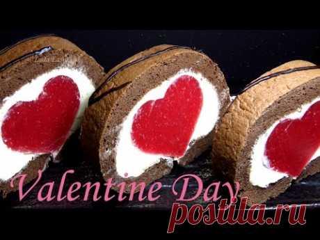 """Biscuit #рулет \""""Heart\"""" by St. Valentine's Day St. Valentine's Day #LudaEasyCook"""