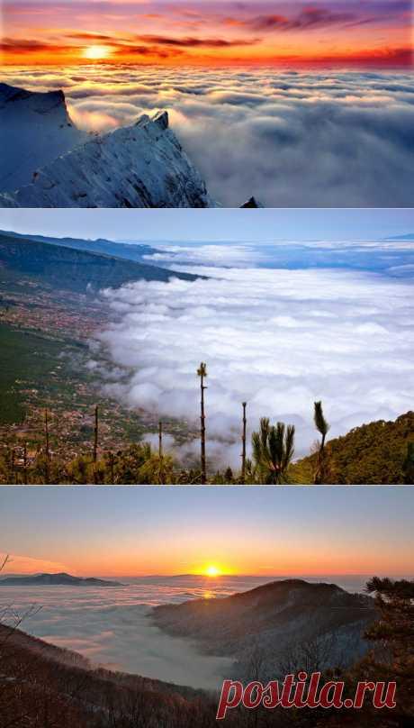 El mundo fantástico sobre las nubes. Las nubes es un espectáculo grande gratuito en la Tierra. Mirar hacia arriba y alegrar la mirada no vale la pena ni un cuarto. Lo apreciáis