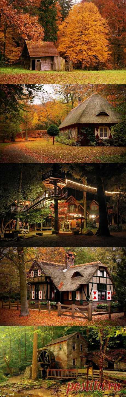 Дом в лесу является идеальным местом, чтобы отдохнуть от шума и суеты повседневной жизни, чтобы испытать мирное спокойствие леса. Там никаких часов … нет расписания … нет повестки дня. День только ваш, и вы можете расслабиться…, исследовать…, делать то, что хотите. Прийти в себя в месте, где время остановилось. Когда мы думаем о лесных домиках то представляем картину старых, деревянных и заброшенных жилищ... так манящих нас!