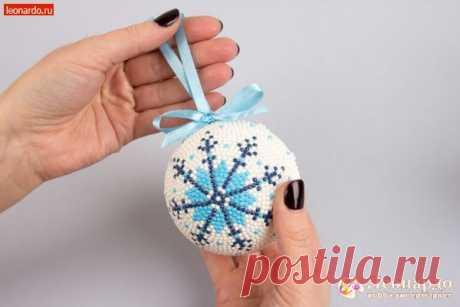"Новогодний шар «Снежинка» - ""Леонардо"" хобби-гипермаркет - товары для хобби и рукоделия"