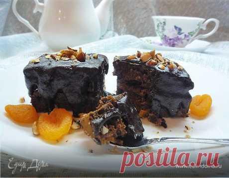 Шоколадные брауни с курагой и миндалем   Официальный сайт кулинарных рецептов Юлии