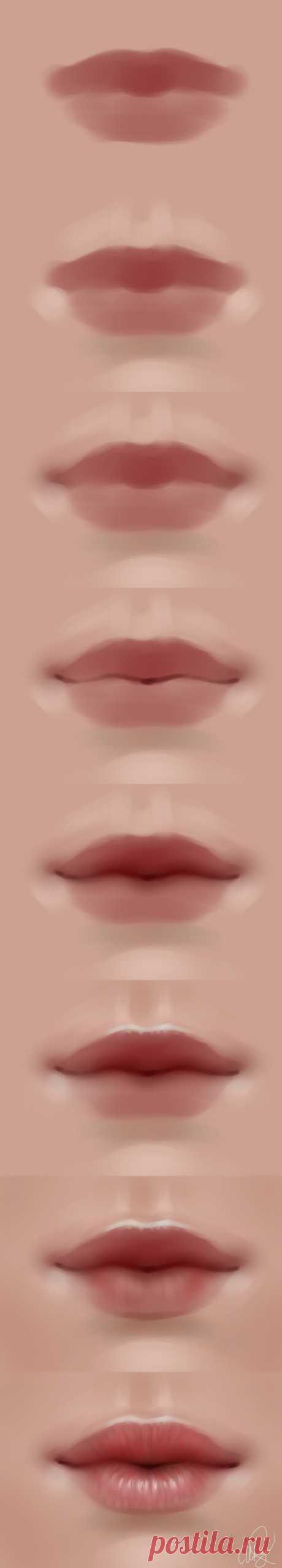 lips walkthrough by Selenada on DeviantArt