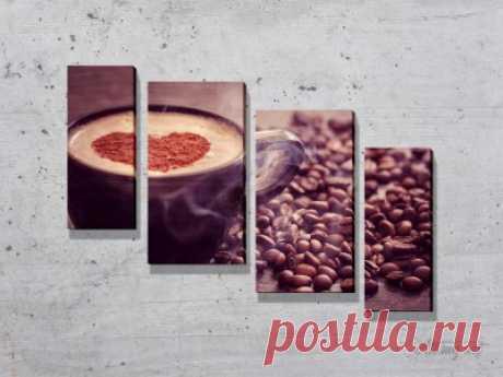 Модульные картины с кофе. #картина #модульнаякартина #декор #интерьер #дизайнинтерьера #уют #атмосфера