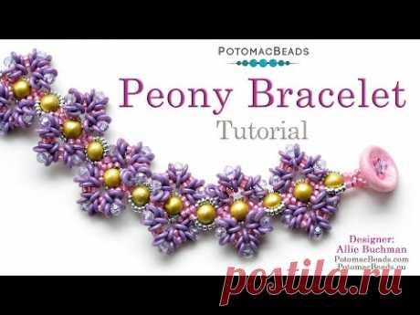 Peony Bracelet - DIY Jewelry Making Tutorial by PotomacBeads