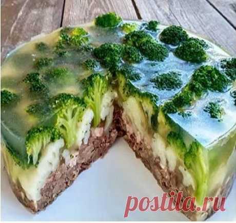 """Мясной торт """"Лесная чаща"""" (вкусно, красиво и легко)"""