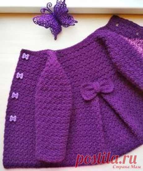 Детское вязаное пальто крючком Розали - Вязание для детей - Страна Мам