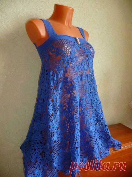Связанное крючком платье бабушки | Вязаные Лягушки