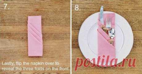 Красивый способ сервировки праздничного стола
