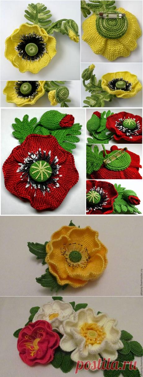 Irish crochet &: Шиповник от Ксении