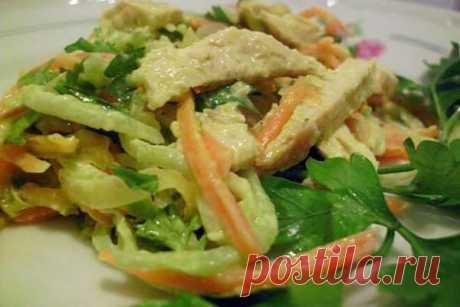 Салат из зеленой редьки с курицей и грибами, рецепт с фото и видео | Вкусные кулинарные рецепты