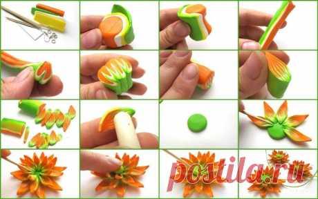 Лепим красивые цветы — Сделай сам, идеи для творчества - DIY Ideas