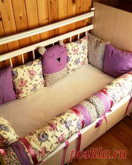 Бортики в кроватку своими руками (65 фото): как сшить своими руками, выкройки
