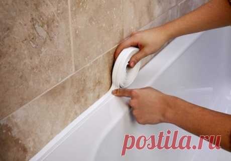 Как заделать щель между ванной и стеной: 6 простых способов