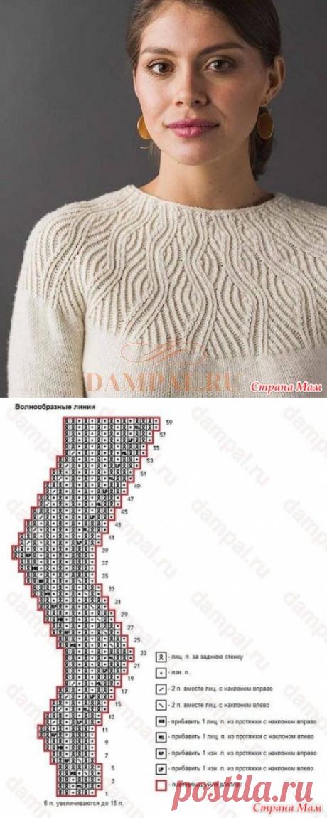 Белый пуловер «Undulating Lines» - Страна Мам