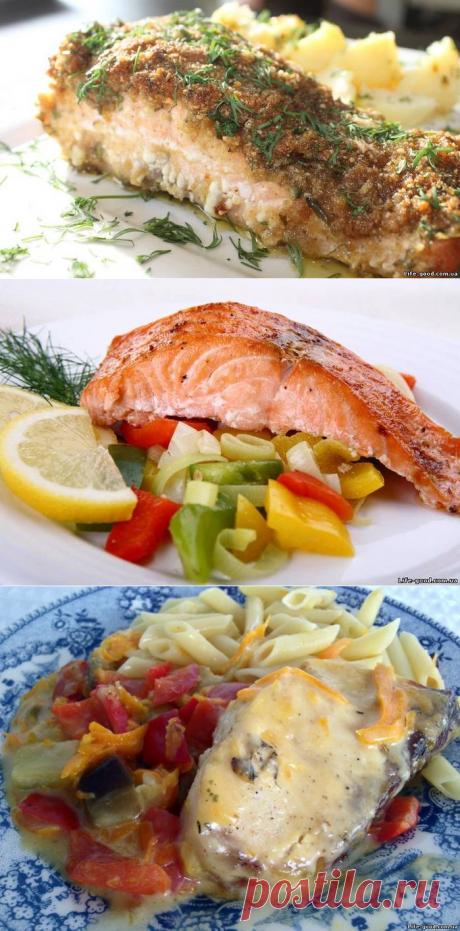 Треска с овощами... Ароматный ...лосось для гурмана...-3 рыбных рецепта