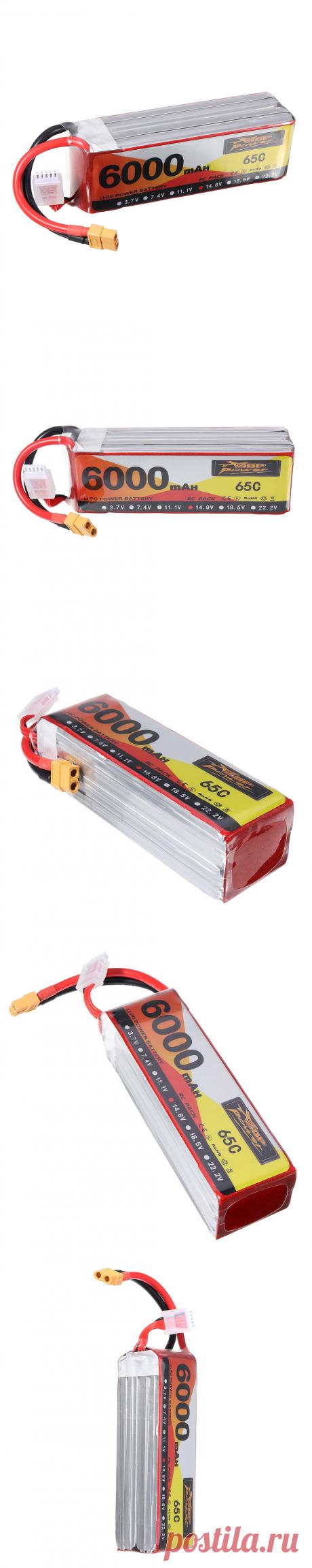 zop power 14.8v 6000mah 65c 4s lipo battery xt60 plug for rc drone Sale - Banggood.com