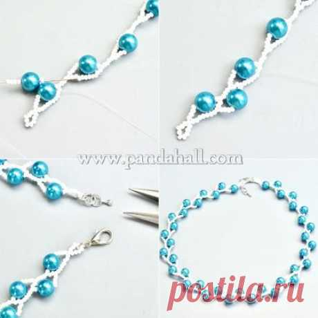Blue Pearl Necklace   Pandahall Inspiration Projects