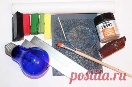 Кулон из полимерной глины в технике «Sutton Slice» — мастер класс