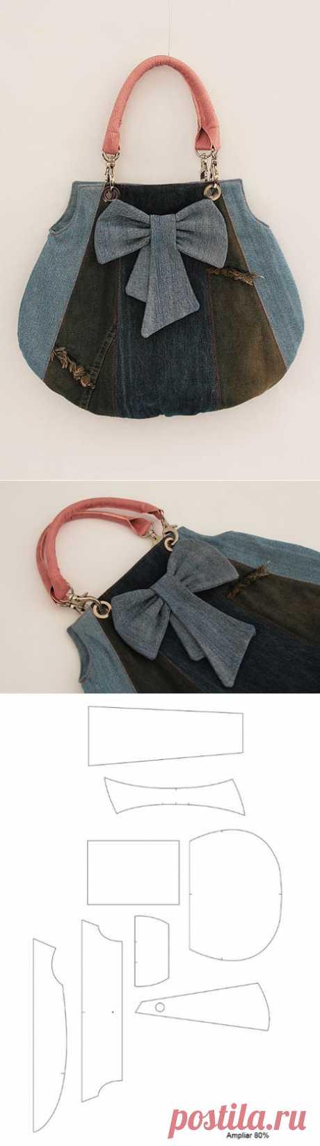 Шьем модную сумку из старых джинсов. Мастер-класс.