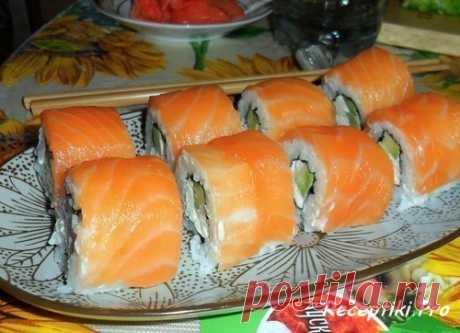 """Японская кухня - Роллы """"Филадельфия"""" - быстро, вкусно и просто"""