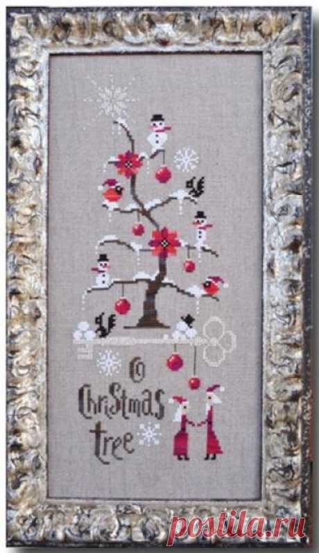 O Christmas Tree, вышивка, примитив.