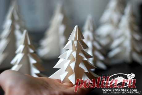 Елочка-оригами. Мастер-класс