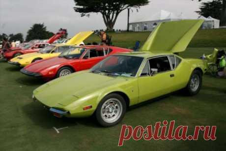 DeTomaso Pantera 1971 для настоящих ценителей ретромобилей . Тут забавно !!!