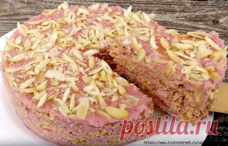 Обалденный торт без духовки, без желатина, без печенья