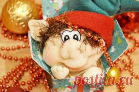 """Doll from the tights \""""Christmas Elf\"""" 