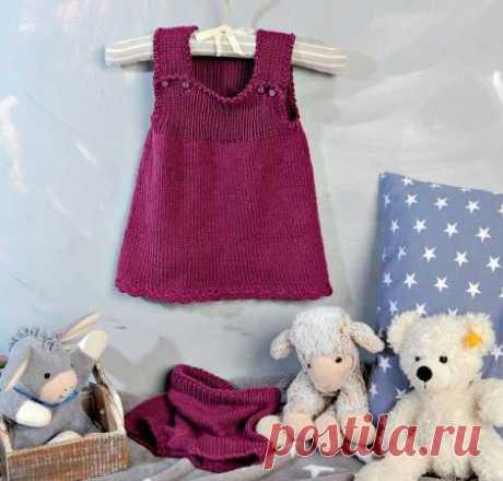 Милое Платье-сарафан и штанишки для девочки