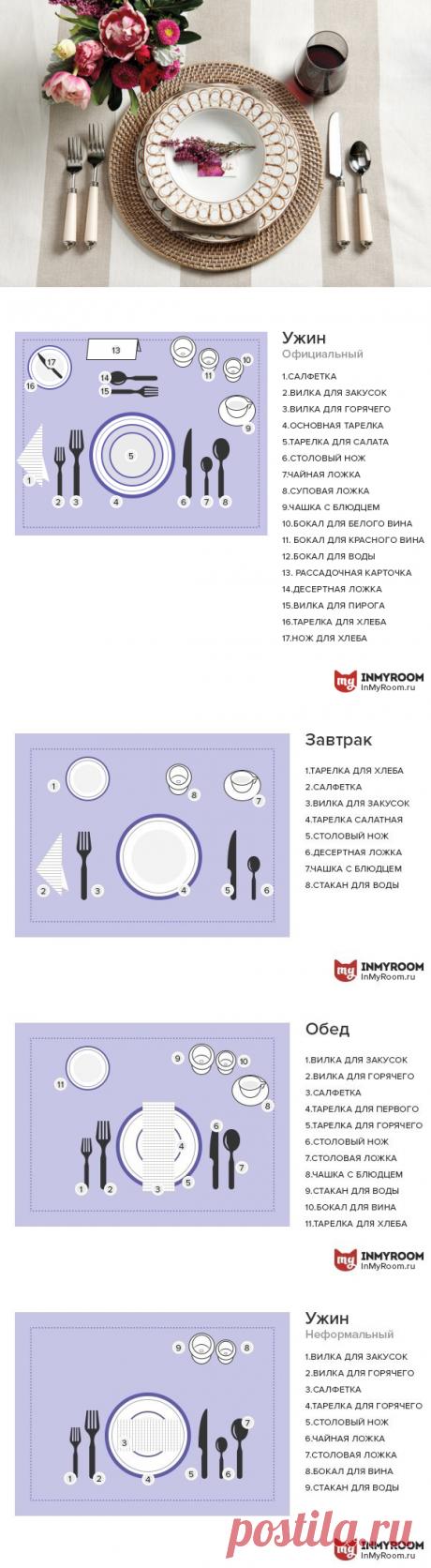 Все о сервировке + схемы, которые нужно сохранить в «Избранное» | Свежие идеи дизайна интерьеров, декора, архитектуры на InMyRoom.ru