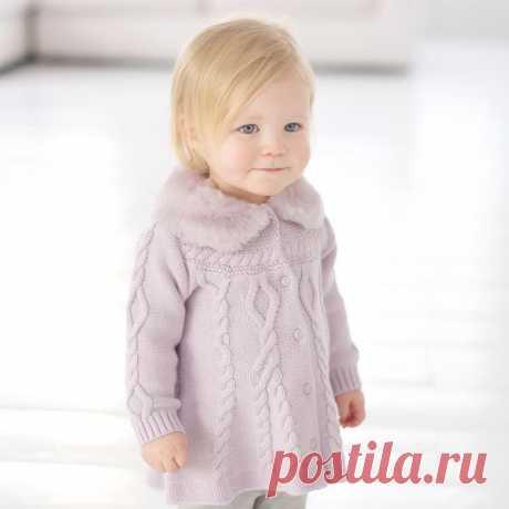 Онлайн вязание - пальто для малышки..